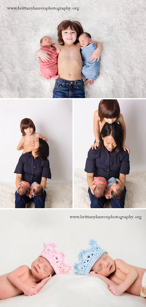 Twin newborn session
