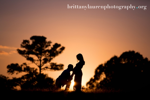 Sunset maternity silhoutte picture