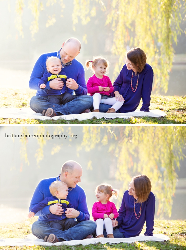 Sunrise family session in Charlotte
