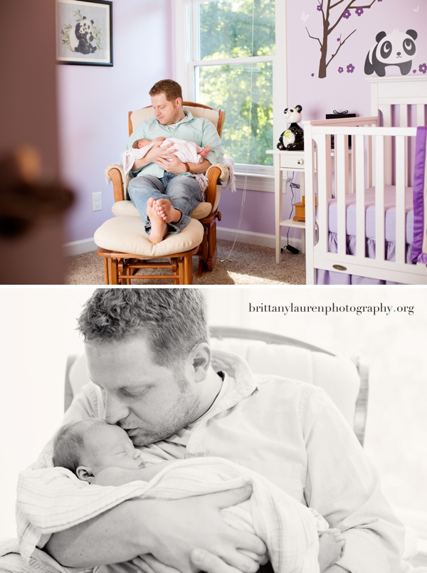 newborn baby girl photos with Dad