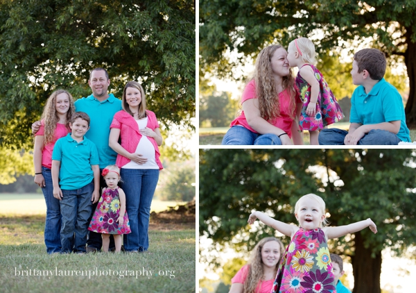 Family maternity photos