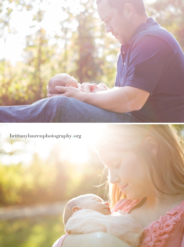 Beautiful outdoor newborn baby pictures Charlotte, NC