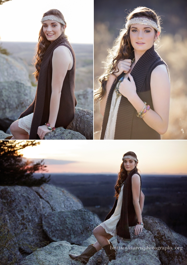 Mountain Senior pictures near Charlotte