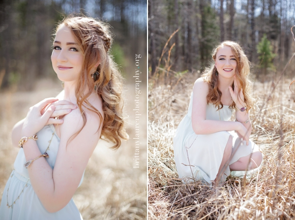 Beautiful High School outdoor senior photos