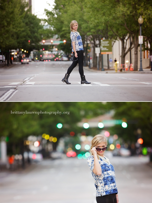 City street senior pictures