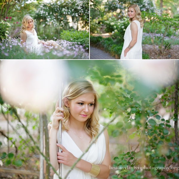 Senior pictures in rose garden
