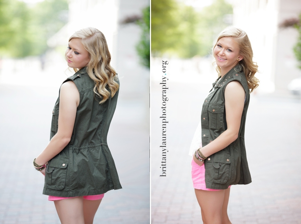 Downtown Charlotte Senior photos