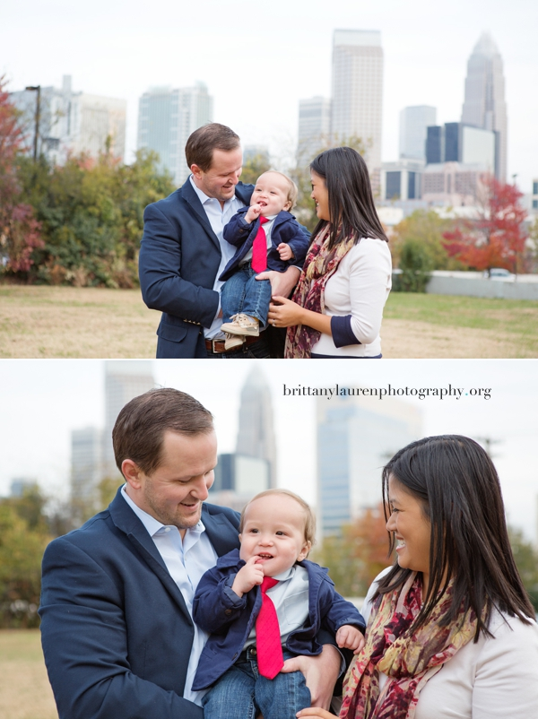 Charlotte city skyline family pictures