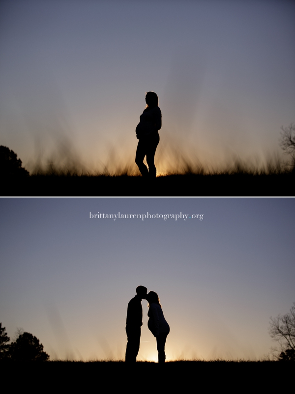 Charlotte pregnancy picture at sunset
