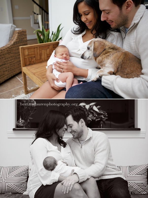 natural newborn family pictures