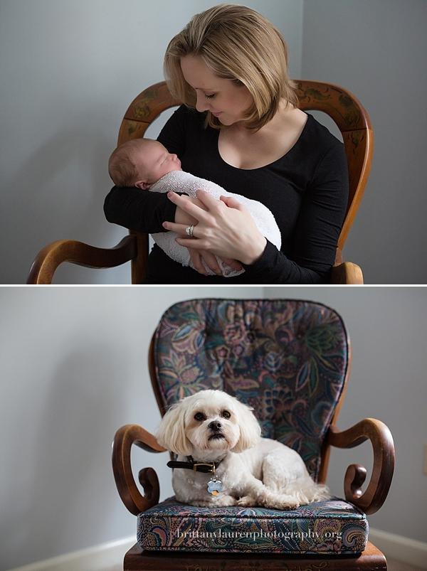 Mom holds her newborn  baby boy