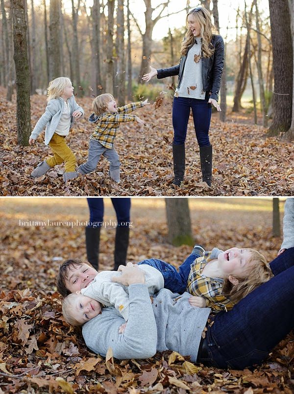 Children play with parents