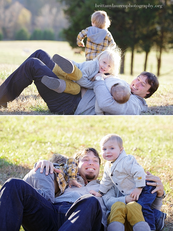 Dad playing with kids