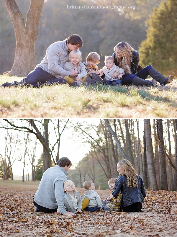 Family pictures in leaves